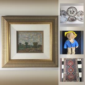 MaxSold Auction: This online auction features Signed Original Art & numbered Prints, Vintage & Antique artwork, 1934 Calendar, Royal Doulton Bunnykins, 19th-century doll, Chinese scrolls, Dollhouse Furnishings, Antique book collections, Rugs, Gustav Dore prints, Vintage Canadiana and much more!