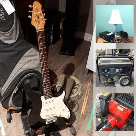 MaxSold Auction: This online auction features Snow Blower, Patio Furniture, Compressor, Power Tools, Outboard Motors, Pressure Washer, Motorcycle Lift Table, Large Power Tools, Guitar, Fishing Gear, Small Kitchen Appliances, Beach Toolbox, Telescope. Model Trains and much more!