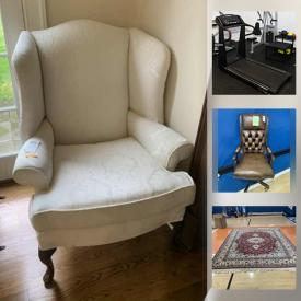 """MaxSold Auction: This online auction features Christian Riese Lassen limited edition art with COA, Little Tikes bounce house, Eve of Milady wedding dress, electronics such as Apple AirPods, 26"""" TV, Wii games, and Dell monitors, furniture such as side tables, Pottery Barn sectional, and custom TV cabinet, barware, children's toys such as Littlest Pet Shop, Thomas and Friends, and Disney, area rugs, window treatments, sports equipment, treadmill, linens, DVDs, craft supplies, small kitchen appliances and much more!"""