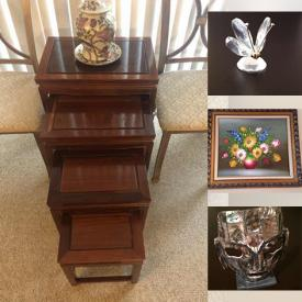 MaxSold Auction: This online auction features Jewelry, Vintage Jewelry, Swarovski Crystal, African Art, TV, Diving Gear, Garden Tools, Camping Gear, Fireplace Mantelpiece, Leather Couch, Welding Tools, Greenhouse, Power & Hand Tools, Vintage Currency, Art Glass and much more!