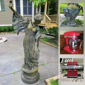 MaxSold Auction: This online auction features carved trunk, plasma HDTV, area rugs, office equipment, art supplies, antique furniture, vintage metal bed, garden statues, BBQ grill and much more!