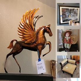 MaxSold Auction: This online auction features International Art & Souvenirs, Fine porcelain including Lladro, Wedgwood, Murano Art glass, Vintage furniture, Signed Original Art & numbered Prints, Artisan pottery, Fantasy figurines including Dragons, Pegasus, Fairies. Statues, Deities, Relics, Electric fireplace, Mirrors, Lamps, Tapestries, Mid-Century Glassware, Dinnerware & Kitchen sundries, Cookware, Curio cabinets and Display shelves, Vases, Collector's plates, Trinket boxes, Christmas decor, Artisan wood carvings, Hopi Kachina dolls, Outdoor Patio furniture, Garden & Yard decor, Homecare & Cleaning supplies and much more!