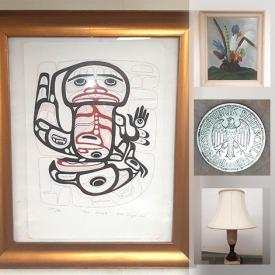 MaxSold Auction: This online auction features Framed Hida print, numbered beer stein, soapstone carvings, coins, hand-carved wooden bowl and much more!