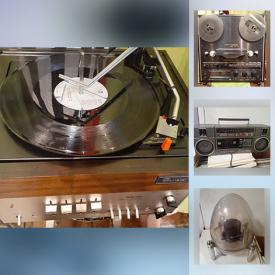 MaxSold Auction: This online auction features a boombox, vintage woofer speaker, reel to reel and much more!