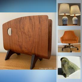 MaxSold Auction: This online auction features art Glass, Teak Furniture, Golf Clubs, Inuit Soapstone Carving, Art Pottery, Sports Cards, Children's Books, Sports Equipment, Stereo Equipment, Video Games and much more!