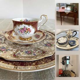 MaxSold Auction: This online auction features Royal Crown Derby dishes, collectible teacups, art glass, power tools, mink coat, Moorcroft vase, art pottery, collector spoons, Bill Reid framed artwork, Traeger BBQ, power tools, small kitchen appliances and much more!