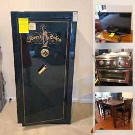 MaxSold Auction: This online auction features furniture such as a kitchen table and chairs, hutch, dressers, coffee table, Sonoma end table, dining room table, electric recliner, bench, cabinet, bookcase, desk and more, puzzles, Samsung TV, decor, vacuums, Akorn Char-Griller, doormat, crates, arc floor light, small kitchen appliances and much more!
