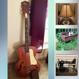 MaxSold Auction: This online auction features artwork, vintage furniture, vintage Radios, vintage sewing machines, ceiling fans, shop vacs, power tools, heaters, gardening, vintage cast iron, guitar, doll house, vintage die cast toys and much more.