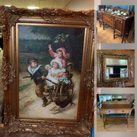 MaxSold Auction: This online auction features Rugs, English Mahogany Cabinet, Collectible Teacups, Grandfather Clock, Trisha Romance Figurines, Yard Tools, Hand Tools, Granite Pieces, Vintage Tools, Porcelain Dolls, Vintage Clocks and much more!