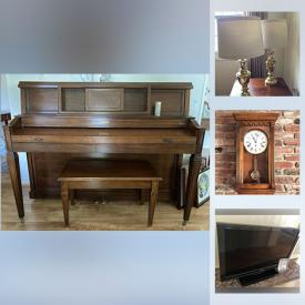 MaxSold Auction: This online auction features solid wood furniture including Henredon, Woodmark. Cherry wood, Walnut, Vintage furniture, Poker table, Barware, Mini Fridge, Baker's rack, Children's books, games, outdoor toys, play hut, dolls, Boyds Bears, Baldwin Piano, Lladro figurines, Spode & Lenox Christmas dinnerware, Jewelry, Small Kitchen Appliances, Food prep, & gadgets, Homecare & Cleaning supplies, Yard and Garden Grooming tools & Supplies, Automotive and much more!