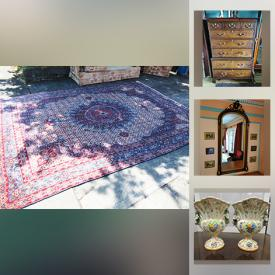 MaxSold Auction: This online auction features Canopy Bed, Antique Furniture, Oriental Rugs, Costume Jewelry, TVs, Vintage Geisha Figures, Venetian Masks, vintage horse brasses, Vintage Ceramics, Copper Plated Pans, Vintage Crates, Art Glass and much more!