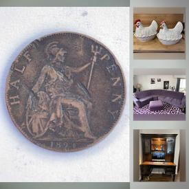 MaxSold Auction: This online auction features Depression Glass, Nesting Chickens, Small Kitchen Appliances, Coins, Bedroom Suite, Vintage Cookie Jars, Sectional Sofa and much more!