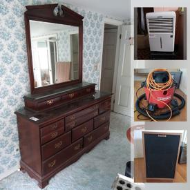 MaxSold Auction: This online auction features Air Conditioners, Mini-Fridge, Stereo Components, Wine Cooler, Victrola, Washer, Dryer, Dept 56 Christmas Village, Small Kitchen Appliances, Model Railroad, Vintage Skis, Exercise Equipment, Wood Stove, Hardware, Gardening Tools and much more!