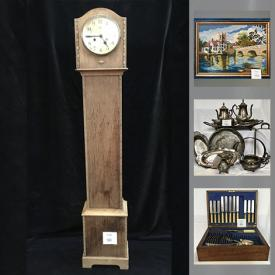 MaxSold Auction: This online auction features canisters, jewelry, Degas guitar, bone china, books, dress form, Germany plate, pine dresser, wagon, balance bike, cutlery, silver jewelry, dishware, luggage, Inuit sculpture, Ikea Grana's chairs, small kitchen appliances, collector plates, stationery, toys, vases, decor, camera and accessories, Wedgwood, amber glass, antique bed frame and much more!
