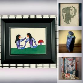 MaxSold Auction: This online auction features Inuit and Indigenous Signed Original Art, Numbered Prints including A.J Casson, Tom Thomson, Robert Paananen. Vintage furniture, Royal Copenhagen ceramics, Depression glass, Mid-Century Glassware, Dinnerware & Kitchen items and much more!