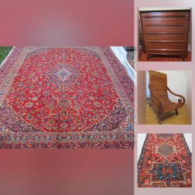 MaxSold Auction: This online auction features ancient coins, silver dollars, antique Canadian coins, Royal Canadian Mint coin sets, Persian rugs, silver plate, 10k vintage rings, furniture such as Gibbard MCM dressers, antique serving cart, side tables, and reclining leather couch, stained glass and much more!