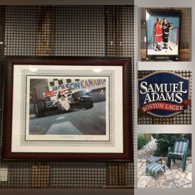 MaxSold Auction: This online auction features Blue Jays Memorabilia, Trading Cards, Beer Sign, Collectible Plate, Adult Bike, BBQ Grill, Bar Fridge, Camping Gear, Golf Clubs, Yard Tools and much more!