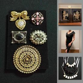 MaxSold Auction: This online auction features Women's Dresses, Evening Wear & Shoes, Cashmere Scarves, Vintage Wedding Dress, Beaded Necklaces, Watches, Sterling Silver Jewelry, Vintage Jewelry, Vintage Jade Earrings, Costume Jewelry, Art Supplies, Hand Tools and much more!