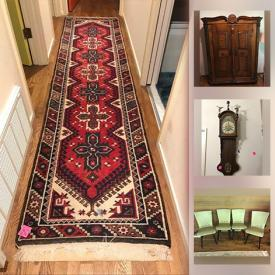 MaxSold Auction: This online auction features MCM Furniture, Rugs, Leather Furniture, Art Pottery, Antique Wood Printer Drawer, Art Glass, Board Games, Wood Ship Model, Original Paintings, Pewter Pieces, Vintage Jewelry, Art Supplies, Collectible Teacups and much more!