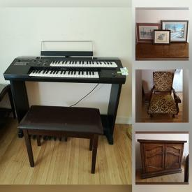 MaxSold Auction: This online auction features vintage items including Malcolm highboy, Telefunken hi-fi console, Peerless table, washboard, inkwell and bottles, trays, keys, hat, fascinators, quilts, Moorcroft vase, signed green glass. China such as Wedgwood, Royal Doulton, Shelley, Haviland, Aynsley, Spode, Limoges, Myott. Delft pottery, glassware, depression glass, Sterling carving set, silver plate, crystal, figurines, lamps, framed signed prints and original art, books, vases, area rug. Furniture including Thomasville dining set, desks, library step, chairs,, cabinets, electric organ. Electronics, board and card games, sewing machine and notions and much more!