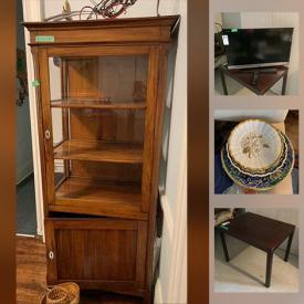 MaxSold Auction: This online auction features furniture such as chairs, coffee table, sofa, dresser, table and more, electronics, accessories, books, costume jewelry, clock, carvings, wall art, chandelier, lamps, glassware, sculptures, cowhide, decor, plates china and much more!