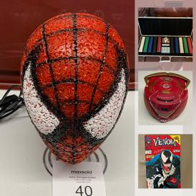 MaxSold Auction: This online auction features Video Game System, Legos, Games & Puzzles, Technic Kit, Comics, Camping Gear, Novelty Banks, Action Figures, African Style Masks, LPs, Toys and much more!