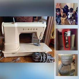 MaxSold Auction: This online auction features a hall table, occasional table, DVDs, buffet, cookware, Ashley recliner, Singer sewing machine, sofa, small kitchen appliances, clothing, Tech turntable and other electronics, Nikon N65 camera, dressers, jewelry, tables, TV mount, dolls, folding chairs and much more!