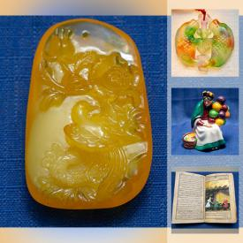 MaxSold Auction: This online auction features Amber Jewelry, Jade Jewelry, Fossil Clam Shells, Vintage Books, Wedgwood Chinaware, Royal Doulton Figurines, Art Glass, Art Pottery, Tribal Carved Masks and much more!