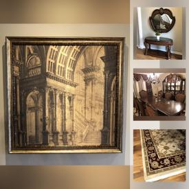 MaxSold Auction: This online auction features dining room furniture, framed wall art, carpet and much more!