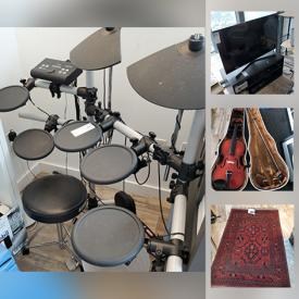 MaxSold Auction: This online auction features an Electric Drum set, Sentry safe, Fitness Equipment & Sporting Goods, Signed Original Art & numbered Prints, Oriental Rugs, Games, toys, Fly Fishing gear, Sporting goods & gear, Computer Equipment and Components, CDs, Office Furniture, Equipment & supplies, Jewelry, Books, Wine Fridge, Tech gadgets, Musical instruments, guitar, Outdoor Patio furniture, Artisan Pottery and Ceramics, Art supplies and much more!