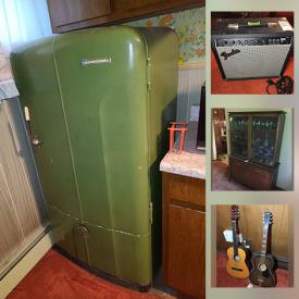 MaxSold Auction: This online auction features Vintage Refrigerator, Vintage Ceramic Figurines, Vintage Room Divider, Vintage Pyrex, Small Kitchen Appliances, Watches, TV, Jardmere Pottery, Violins, Amplifiers, Guitars, Electric Recliner, Lawnmower, Snow Blower and much more!