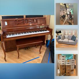 MaxSold Auction: This online auction features wall art, art supplies, lamps, planters, art glass, glassware, kitchen appliances, down sofa, Bose sound machine, camping equipment, garden equipment and much more!