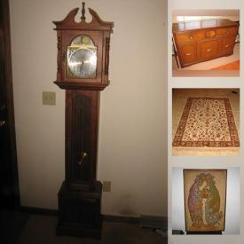 MaxSold Auction: This online auction features Cookware, Vintage furniture, Kitchen Appliances, Statues, Vintage Cameras, Board Games and Puzzles, Grandmother Clock, Antique Quilts, Antique Vanities and Furniture, Exercise Equipment, Sewing Machine Table and much more.
