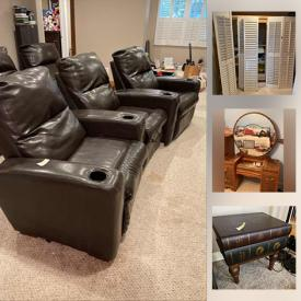 MaxSold Auction: This online auction features Outdoor Sheds, Gardening, Clothes Dryer, Bikes, Nintendos, Pool Table, Furniture, Piano, Popcorn Machine, Jewlery, Electric Guitar, Movie Chairs, Lamps,Art, Pentax Camera and Much Much More.
