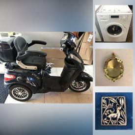 MaxSold Auction: This online auction features fine jewelry such as a diamond ring, sapphire brooch, smokey quartz pendant, emerald and diamond ring, coins, small kitchen appliances, bar items, dehumidifier, original art, prints, canning supplies, office items, needlepoint, household items, mobility scooters and much more!