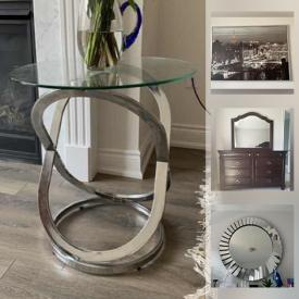 MaxSold Auction: This online auction features dresser, nightstand, headboard, sofa, living room table, glassware, artwork and much more.