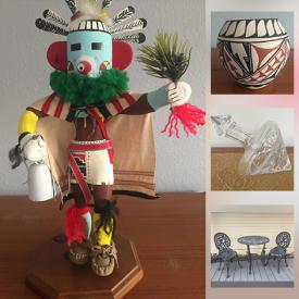 MaxSold Auction: This online auction features Navaho Sand Paintings, Hopi Kachinas, Jemez Pottery Bowls, Crystal Decanter, Patio Furniture, BBQ Grill, Leather Furniture, Area Rug and much more!