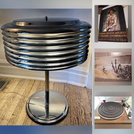 MaxSold Auction: This online auction features vintage cards, vintage ads, dessert plates, Chinese vases, dream machine, jewelry, postage stamps, turntable, patio set, prints, watches, Marantz stereo receiver, MCM atomic saturn table or desk lamp and more!