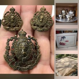 MaxSold Auction: This online auction features Collectible Teacups, Navajo Indian Sand Art, Exercise Equipment, Poole Pottery, Guitar, Fishing Gear, Transfer Ware, Parkas, Coins, Wood Carvings and much more!