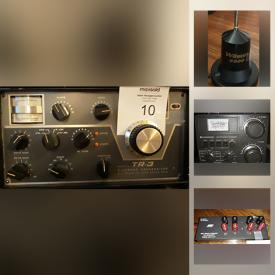 MaxSold Auction: This online auction features new and used HAM equipment including Transceivers, Amps, Speakers, Power supplies, Filters, Tuners, Outlets, Monitors scope and other audio components