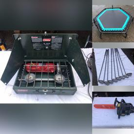 MaxSold Auction: This online auction features Golf Clubs, Stereo Components, Camping Gear, Computer Equipment, Exercise Equipment, Small Kitchen Appliances, Power Tools, Bikes & Racks, VR Goggles, Reel Mower, Video Game Systems and much more!