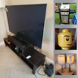 MaxSold Auction: This online auction features Ikea Furniture, Sewing Machine, Wall Mirrors, TV, Swimming Pool, Outdoor Furniture, Dyna Glo Grill, Toys, Time Laps Cameras, Vintage Cameras, Xbox, Gaming Computers, Guitar, Saxophone, Ukulele, Keyboard, Sound Mixer and much more.