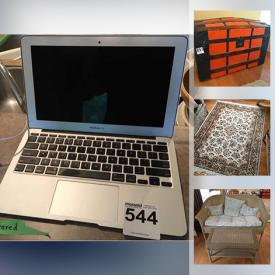 MaxSold Auction: This auction features MacBook Air, Patio Furniture, Privacy Room Dividers, Desks, Area Rugs, Sleeper Sofa, Vintage furniture, Artwork, Kitchenware, Kitchen Appliances, Roya Doulton, Mexico Sterling Silver, Retro items, Costume Jewelry and more.