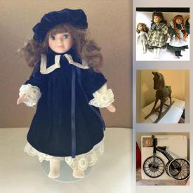 MaxSold Auction: This online auction features Dolls & Accessories & Furniture & Clothes, Rocking Horse, Sewing Notions & Fabric, Vintage Toys, Ventriloquist Dummies, Antique Doll, Action Figure, Pop Culture Collectibles and much more!