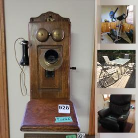 MaxSold Auction: This online auction features Vintage Toys, Camping Gear, Art Supplies, Power & Hand Tools, Patio Set, Garden Tools, Snowblower, Engine Crane, Small Kitchen Appliances, Decorative Plates, Mantle Clock, TV, Electric Piano, Computer Gear, Vintage Games, Model Tractors and much more!