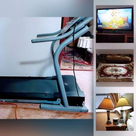 MaxSold Auction: This online auction features Treadmill, Area Rug, Small Kitchen Appliances, Wooden Globe Bar, Garden Tools, Outdoor Fountain Statue, TVs and much more!