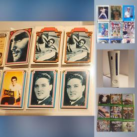 MaxSold Auction: This online auction features Banknotes, Sport & Non-Sport Trading Cards, Video Game Systems, Video Games, Coins, Tea Towels and more!!
