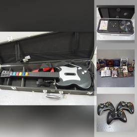MaxSold Auction: This audio-video downsizing online auction features Xbox 360 Console, Games & Components, Wii Guitar Hero guitars, Electric keyboards, Professional Stereo Equipment & Components including Amps, Equalizers, Reverbs, Special effects, vinyl 45s, Small Kitchen Appliances, Food prep, & gadgets, Retro PC games, VHS including Sailor Moon, Acoustic Guitar and much more!