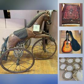 MaxSold Auction: This online auction features renovator's Antique Salvaged Hardware & Fixtures galore!, Oriental rugs, Acoustic guitar, Sterling, Sports Trading cards including signed, Antique books, Signed Original Art & numbered Prints including Primitives, Antiques, Oils, Drawings, Textile art, Antique copper & brass, China including Lenox, Limoges, Noritake, Bavarian, Gilded, Copenhagen, Crystal Chandelier prisms and pendants, Antique Tools, Costume jewelry. Artisan Pottery and Ceramics, Art glass, Military memorabilia, Breweriana & Bar decor, Gen Z toys, Cameras, Video games, Stamp collections and Nostalgic Ephemera and much more!