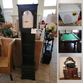 MaxSold Auction: This online auction features barstools, Dining Table and Chairs, Rice Cooker, Slow Cooker, wall art, Christmas Trees, Ornaments and Wrapping Paper, Three-piece entertainment center, Wicker Sofa, pool table and much more!